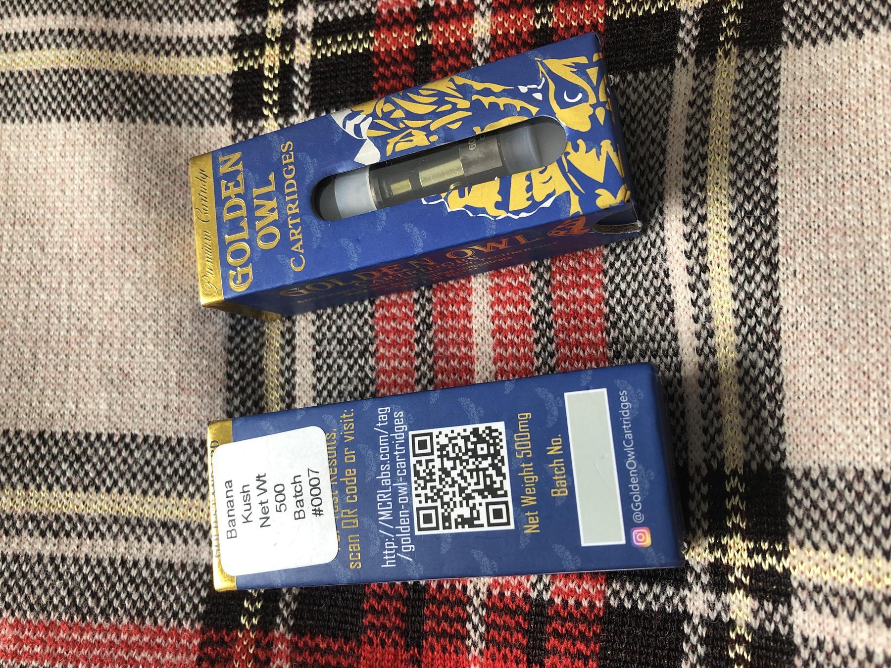 Banana Kush 0.5 Cartridge (Golden Owl) Product image
