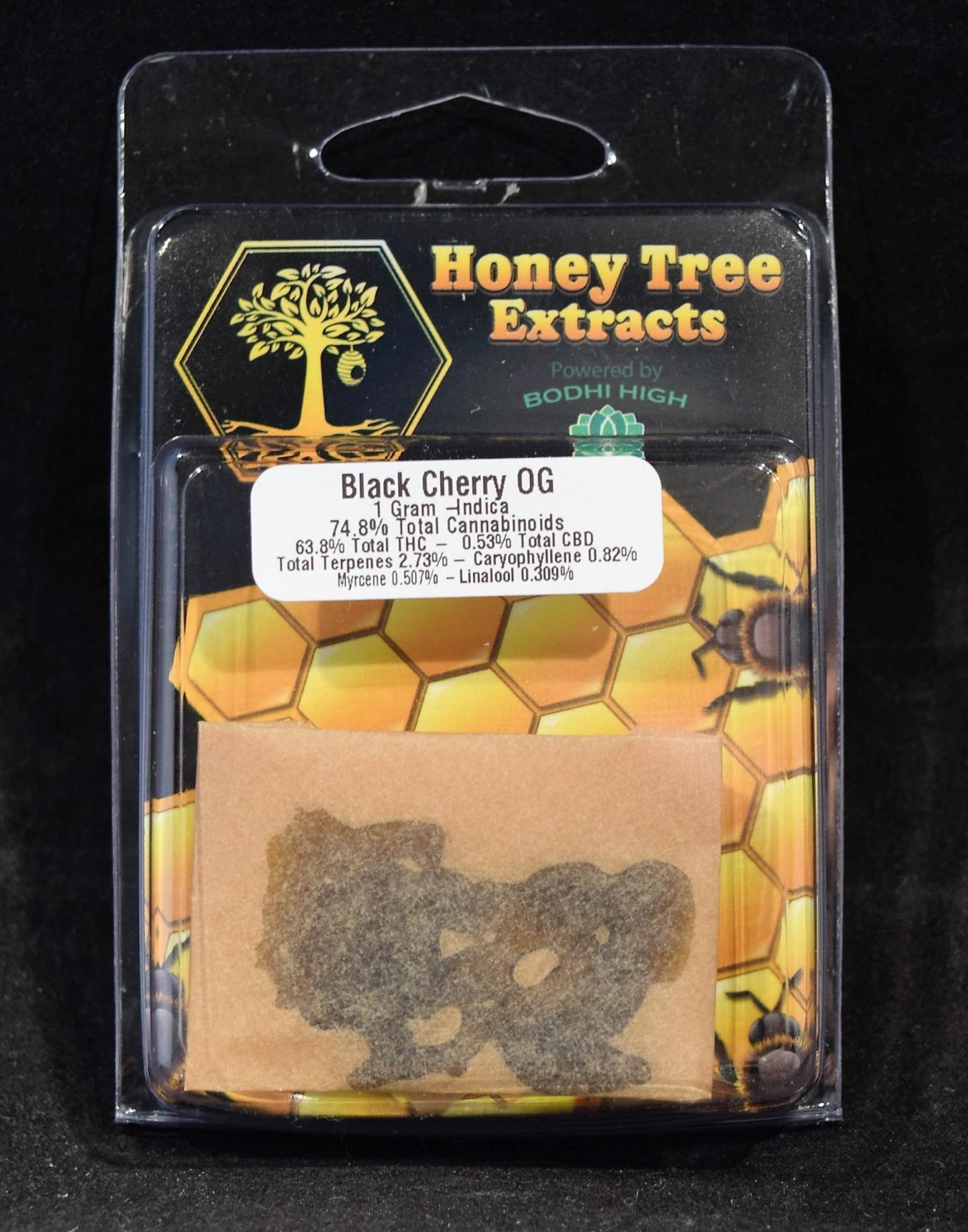 Marijuana Concentrate | Black Cherry OG Shatter- Honey Tree