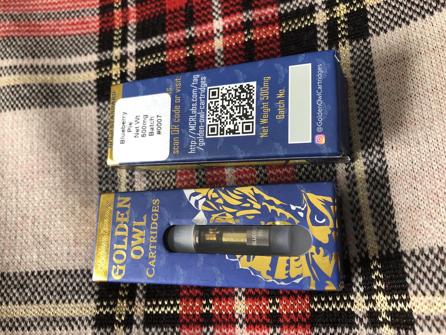 BlueBerry Pie 0.5 Cartridge (Golden Owl) Product image