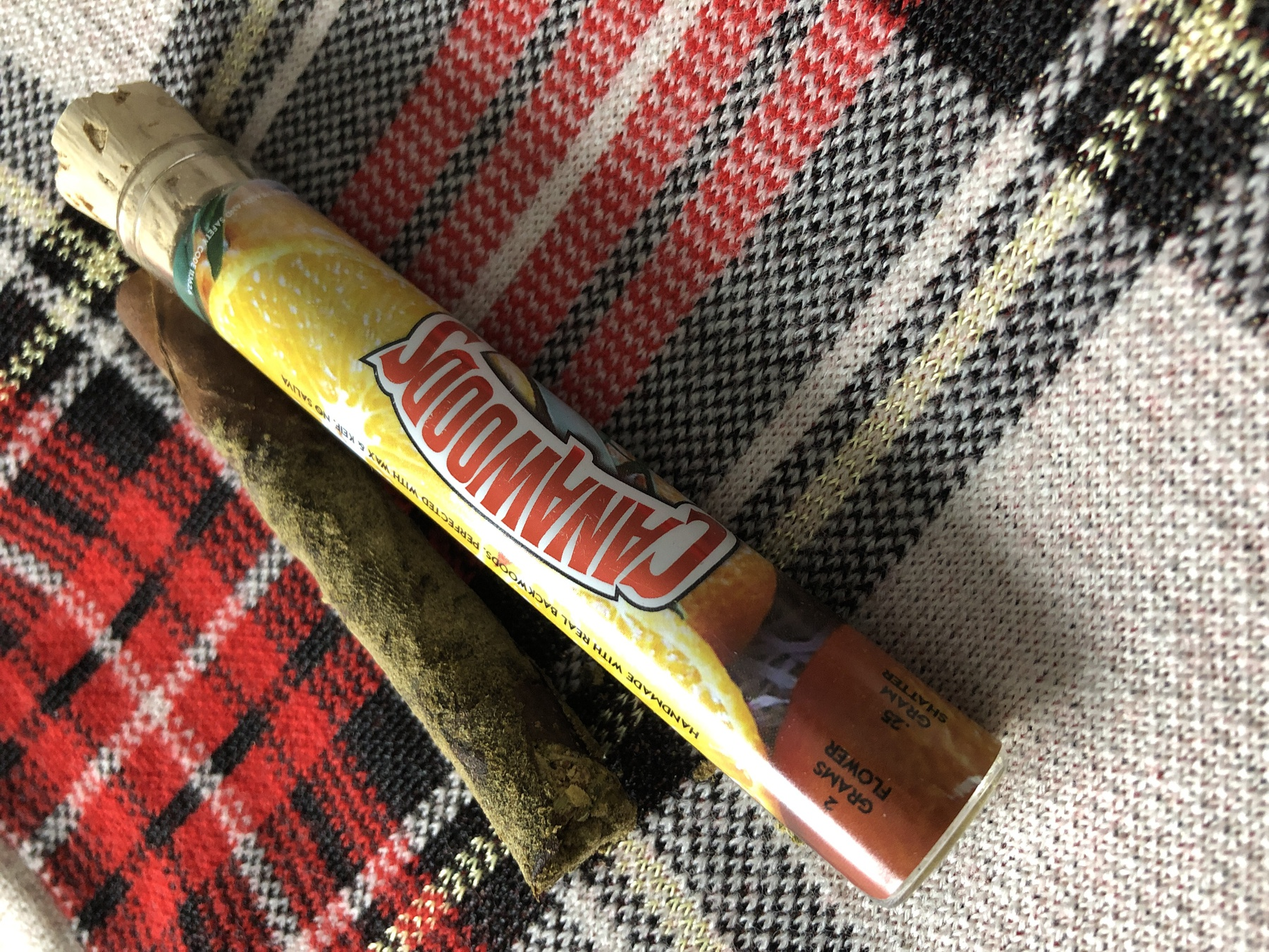 Cannawoods Novelty Blunt (Many Strains Available) 2 g Flower - 0.25 g Shatter - 0.25 Kief Blunt Product image