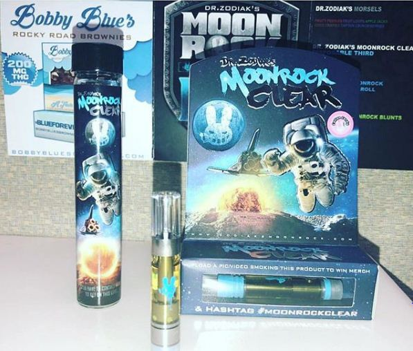 Dr  Zodiaks Moonrock Clear 90% THC Cartridge