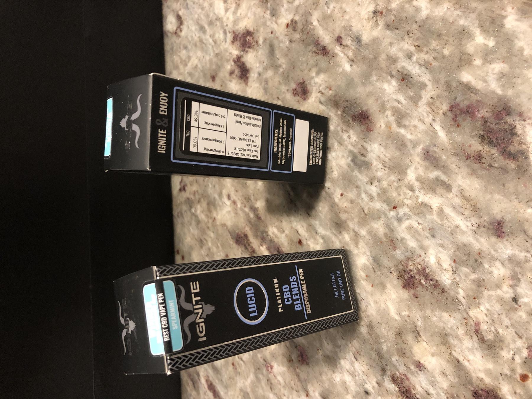 Ignite Premium CBD Disposable Pen - Spearmint Product image