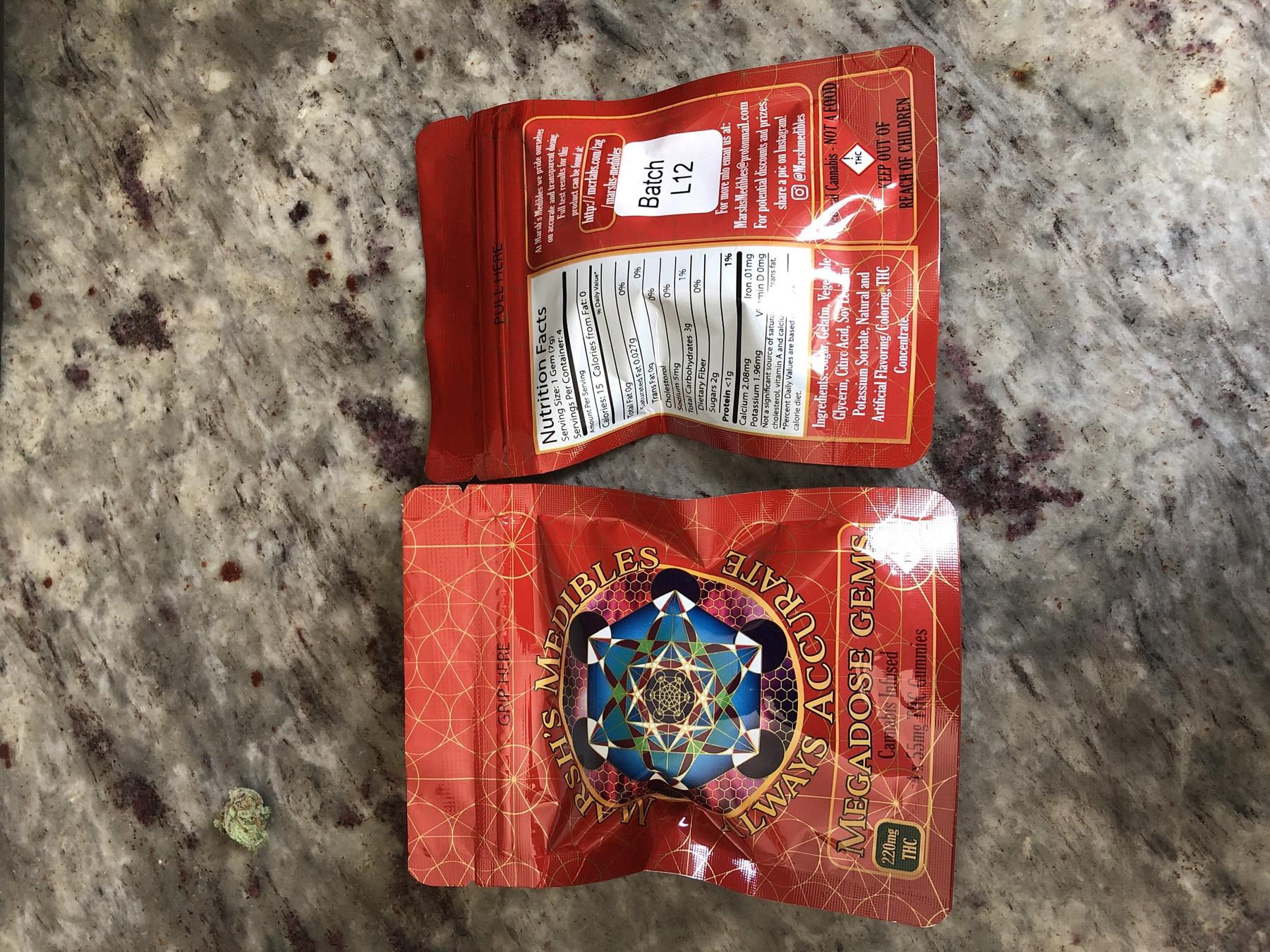 220 MG Marsh's Megadons Medibles Gummy Pack Product image