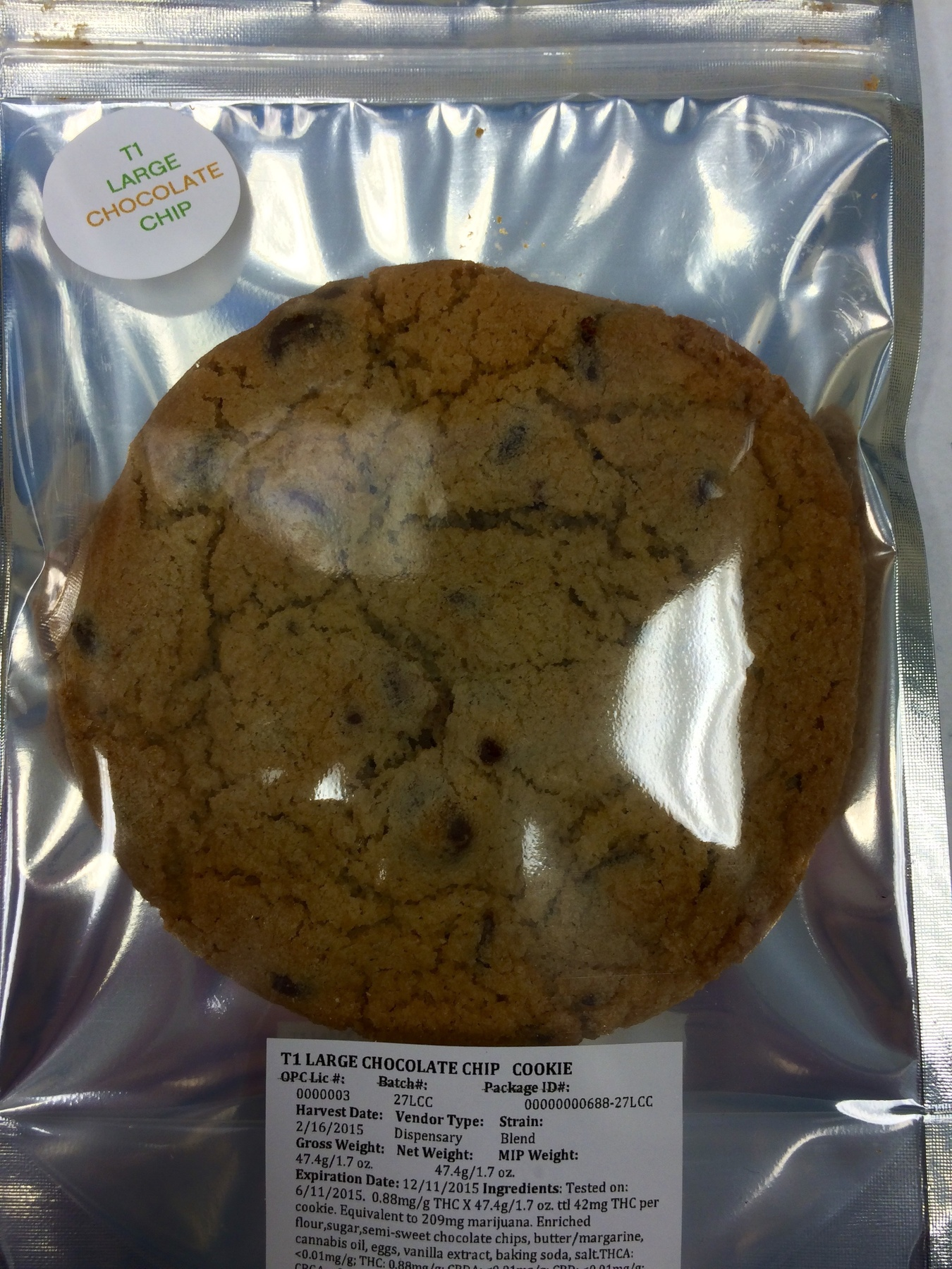 Curaleaf T1 Large Chocolate Chip Cookie Product image