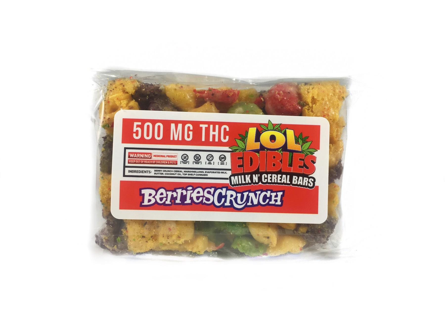 Marijuana edible lol edibles berries crunch bar 500 mg higher lol edibles berries crunch bar 500 mg product image ccuart Image collections