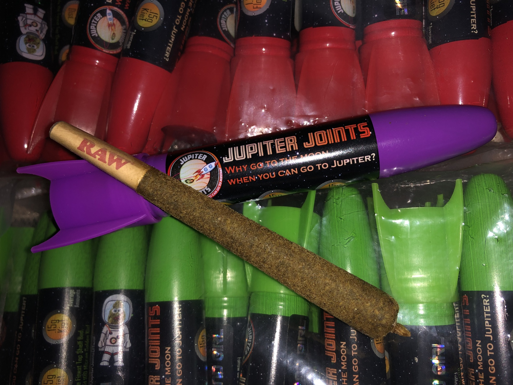Jupiter Joint Watermelon Kush Indica Rocket Distillate/Kief Pre-Rolled Joint Product image